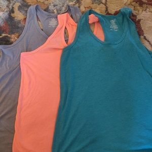 Set of 3 workout or casual tank tops.